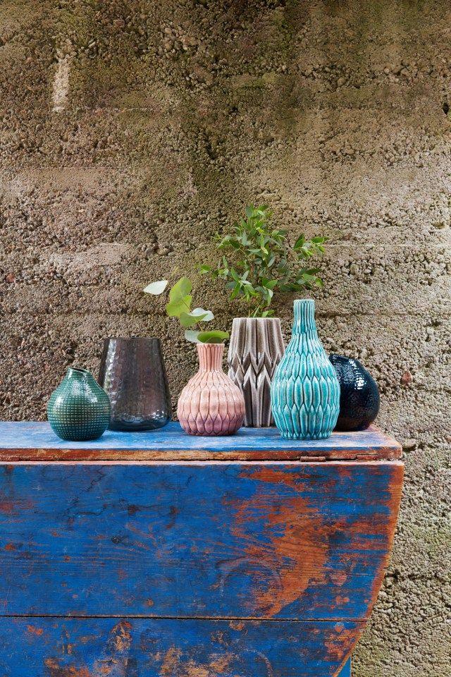 Strömshaga, Stromshaga, interior, inredning, swedish design, scandinavian interior, vases, vas, vaser, rosa, turkos, blå, blue