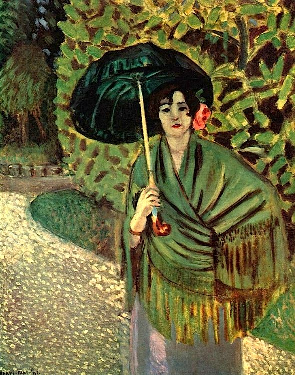 ☂ Paper Lanterns and Parasols ☂ Japonisme Art and Illustration - Henri Matisse | Woman with Umbrella, 1920