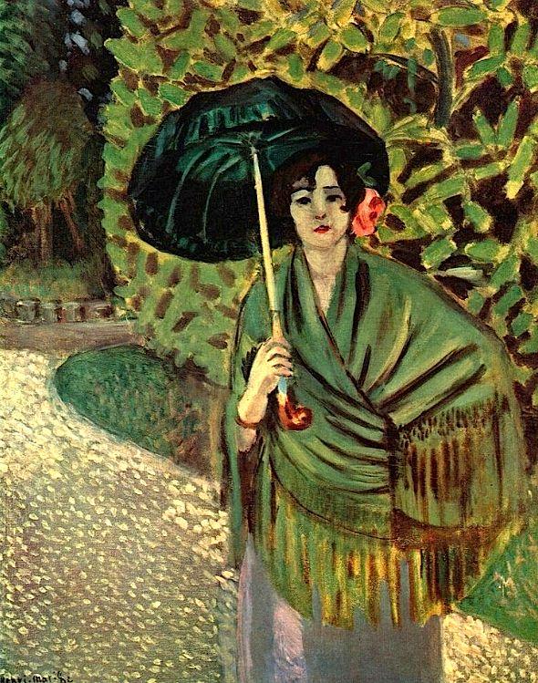 Mujer con sombrilla - Pintura de  Henri Matisse - 1920
