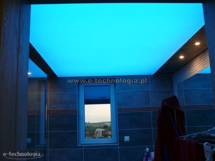 sufit LED w łazience