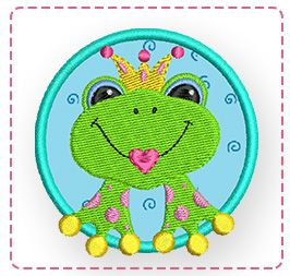 kostenlose Stickdatei - Frosch