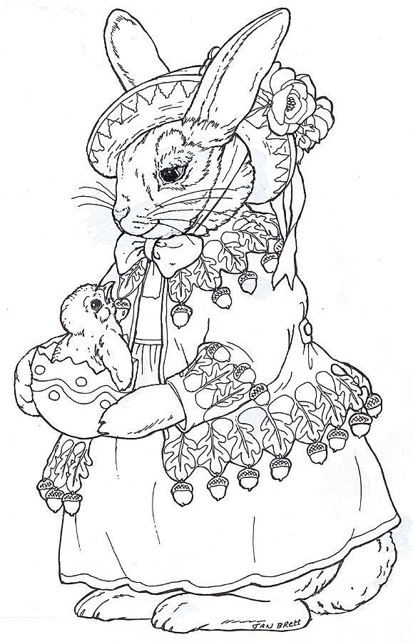 Beatrix Bunny embroidery pattern? for nanny Embroidery