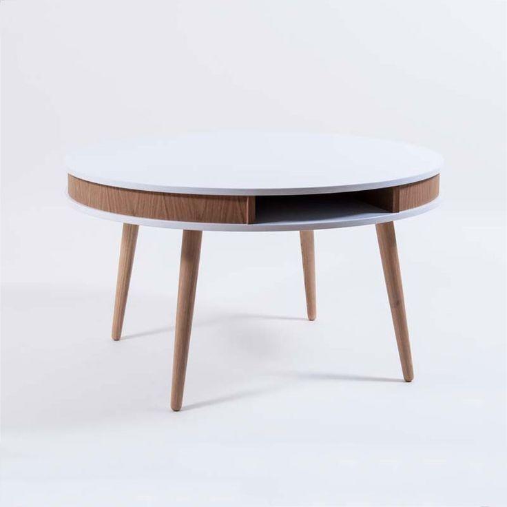 Hugo Soffbord, Vit/Ek, Select21