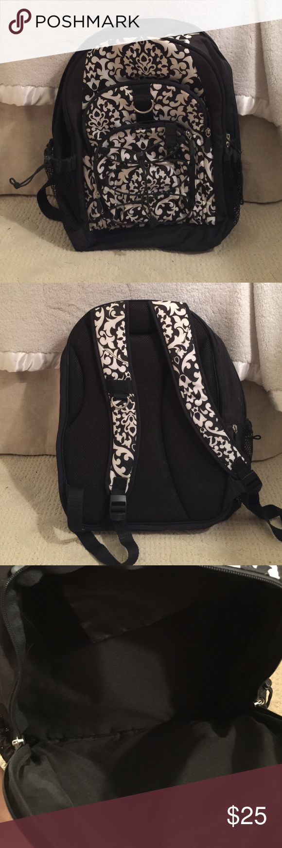 Black and white backpack Carried but in great condition, non smoking home Bags Backpacks