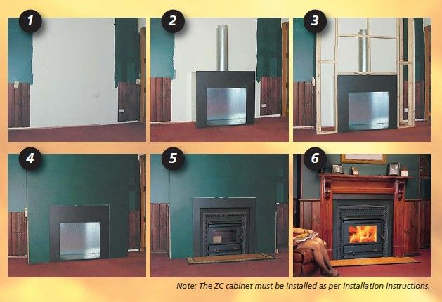 Zero Clearance Fireplace   Eureka Heaters