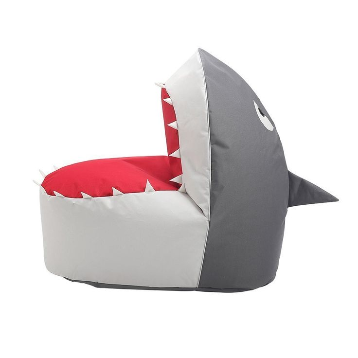 Loghot Creative Shark Cartoon Lazy Sofa Bean Bag Chair For Kids Lovely Tatami Oxford Fabric Settee X Inches Coffee White Grey