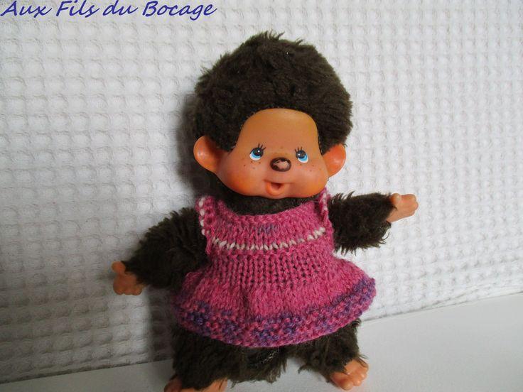 Habit Kiki année 80, kiki 13 cm, robe : Jeux, jouets par aux-fils-du-bocage