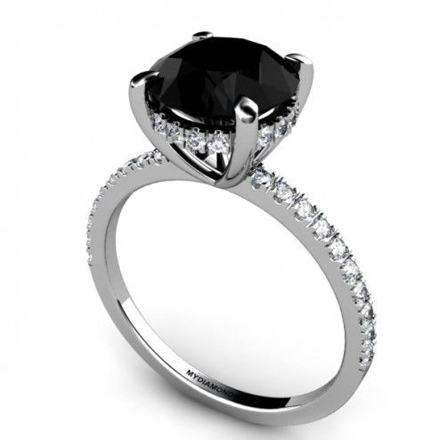 Lascel - 4.00ct Black Diamond Engagement Ring >SAVE $2,000