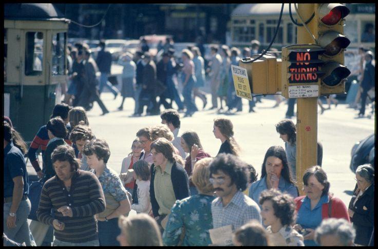 Melbourne - city traffic scenes 1976