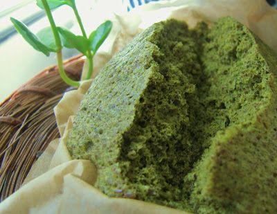 Matcha (aka Green Tea) Steamed cake