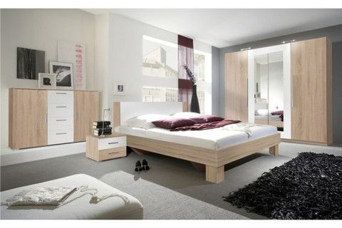 BEDROOM FURNITURE SET VERA OAK SONOMA/ WHITE