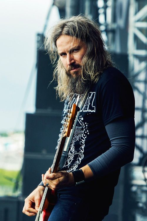 Troy Sanders  Mastodon. Met him once before a show. He's pretty rad.