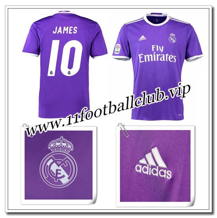 Le Nouveau Maillot de Real Madrid JAMES 10 Exterieur Violet 2016/17 Vintage
