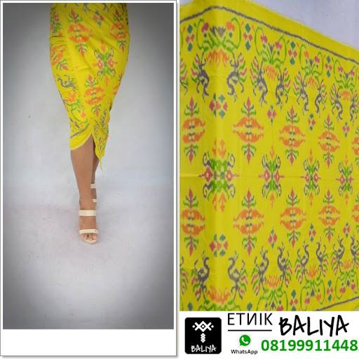 Kamen Endek Bali Terbaru Warna Kuning   Whatsapp/Hp : 081999114482 (XL)