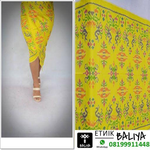 Kamen Endek Bali Terbaru Warna Kuning | Whatsapp/Hp : 081999114482 (XL)