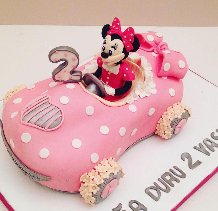 Minnie Mouse Car Cake Cakes Mickey Cakes Cake Cookie Pie