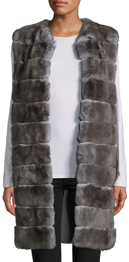 Adrienne Landau Women's Rex Rabbit Fur Vest