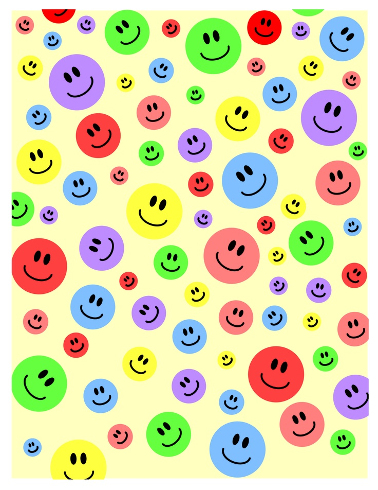 Happy Face Printable I made for scrapbooking and paper crafting