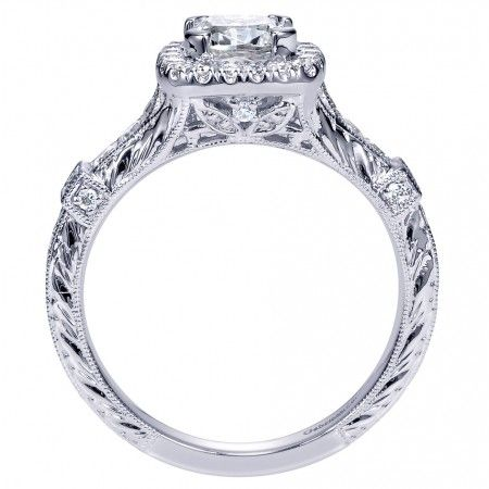 Ring Side View Of A Beautiful Antique Engagement Ring With So Much