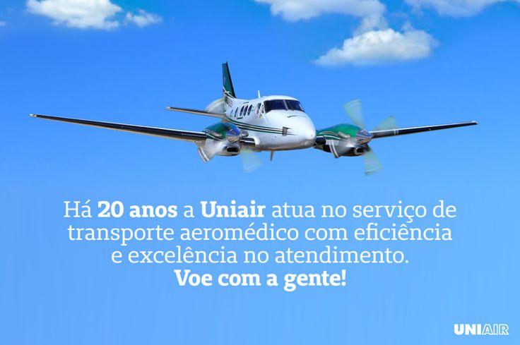Por todo o Brasil proporcionando o cuidado e a atenção que você merece, quando precisar de transporte aeromédico chame a Uniair. Ligue: 0800 519