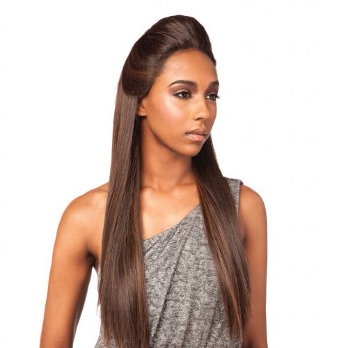 "Beyonce Pomp - Lace Front Wig. Our famous Lace Front Wig called ""The Beyoncé Pomp"". It comes in this gorgeous up style and you can wear it for a night out on the town, a dinner date, a wedding and more!"