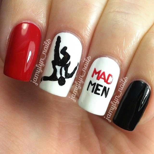 255 best ᗰOᐯIE иαιℓѕ ᗩᖇT images on Pinterest | Nail art ideas ...