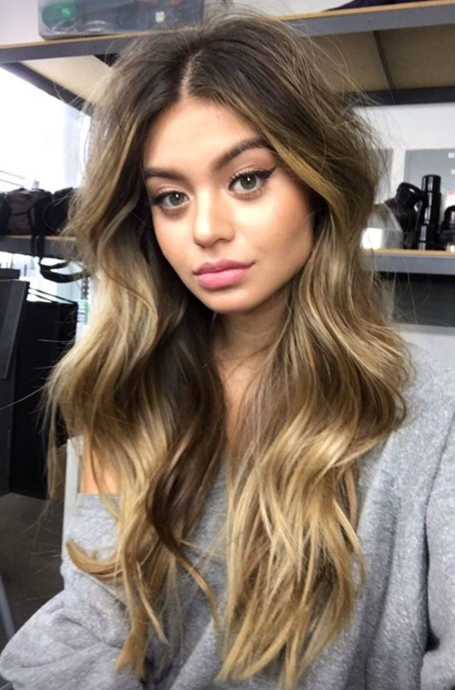 ❤️ Pinterest: DEBORAHPRAHA ❤️ Sofia Jamora beautiful long hair with blonde balayage and perfect volume waves