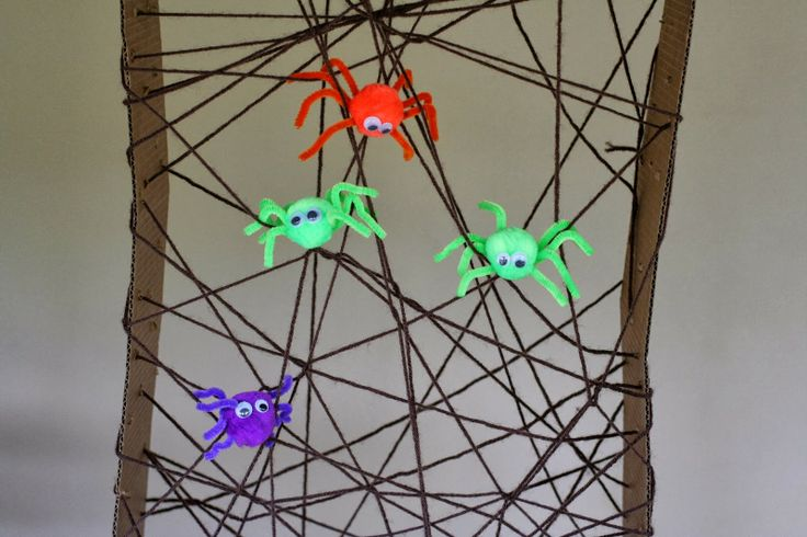 Halloween Fine Motor:  Giant Lacing Spiderweb from Fun at Home with Kids  - repinned by @PediaStaff – Please Visit ht.ly/63sNtfor all our ped therapy, school psych, school nursing & special ed pins