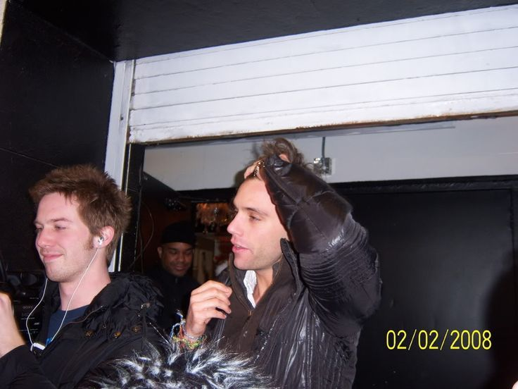 Mika and his Cameraman and Boyfriend Andy. xx