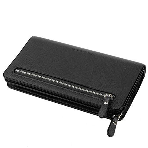 New Trending Purses: BaoLan Womens Wallets Leather Wristlet Clutch Long Wallet Card Holder with Wrist Strap Wallets for Women Black. BaoLan Women's Wallets Leather Wristlet Clutch Long Wallet Card Holder with Wrist Strap Wallets for Women Black   Special Offer: $10.99      322 Reviews Item Type: Wallet Outer Material: PU Leather Inner Material: Polyester Closure: Zipper Pattern: Solid Size: Approx....