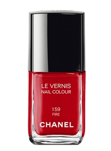 Chanel FIRE nail polish. I rarely wear red clothing,  but cannot deny the glamour of true red nails or lips.