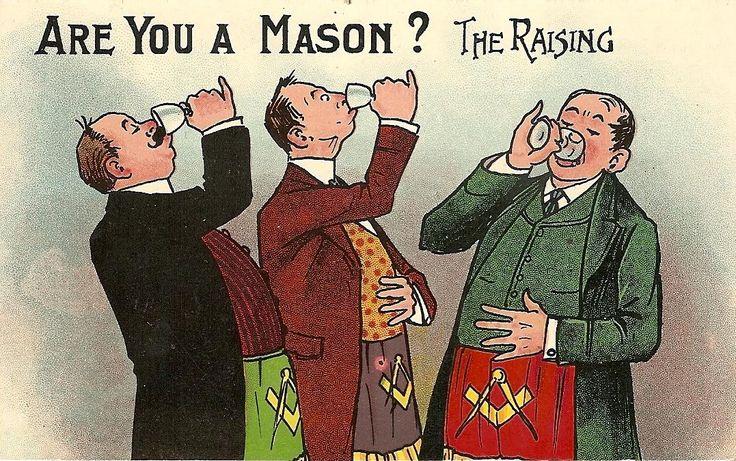 Are You A Mason Humorous Postcards Masones, Masoneria