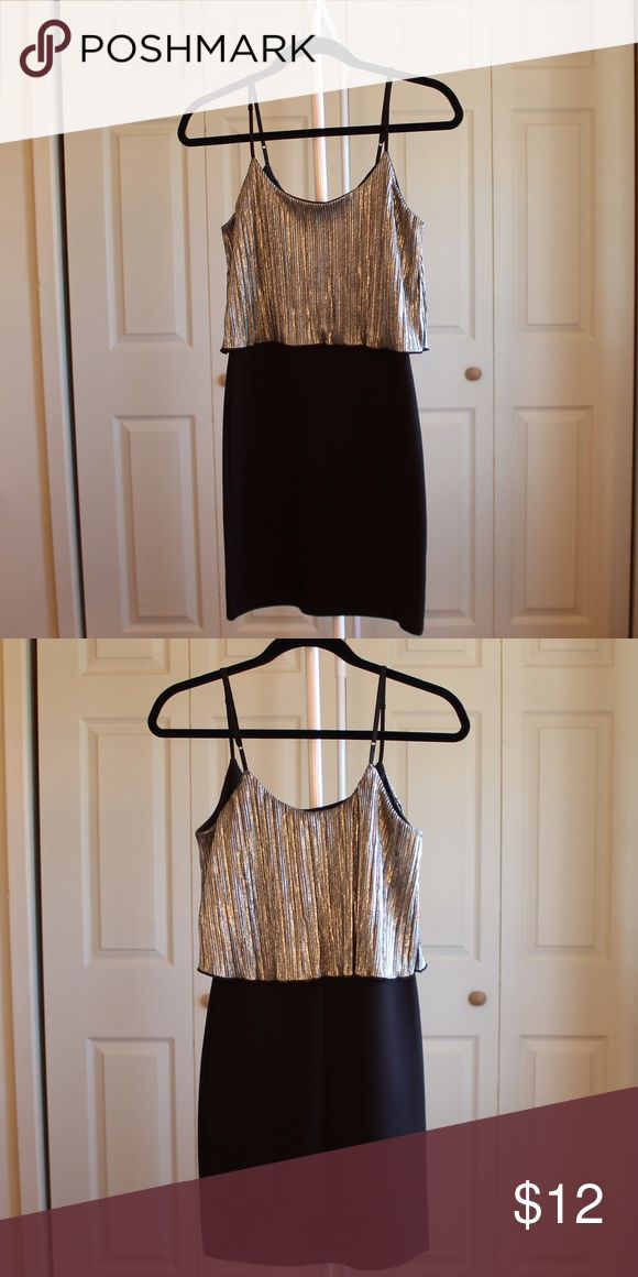 Black/Silver Bodycon Dress Black/Silver Bodycon Dress! Perfect for a night out! Worn once. Good condition! Charlotte Russe Dresses Mini