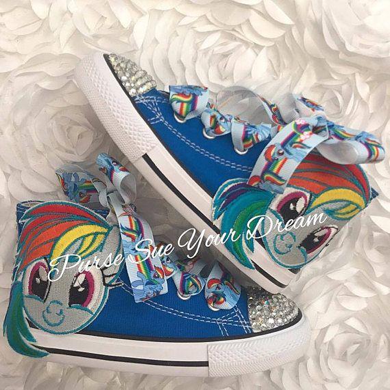 My Little Pony Custom Converse Swarovski Crystal Shoes