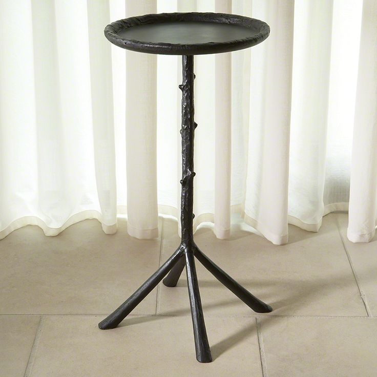 Good Small Drink Table Part - 14: Drink Table Option - Mini Twig Table-Aged Bronze Finish - Global Views - X