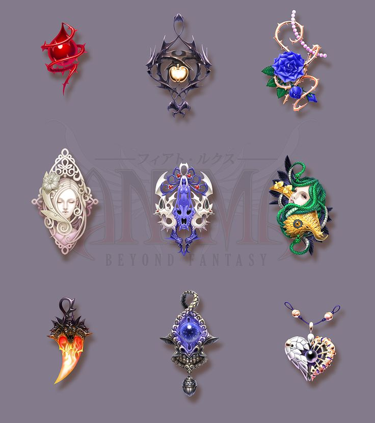 Anima: pendants set 1 by Wen-M.deviantart.com on @deviantART