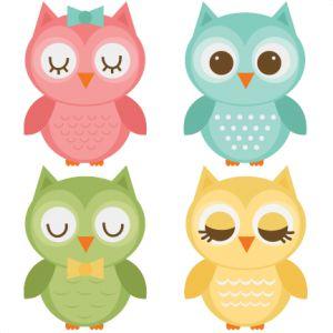 Assorted Owl Set SVG