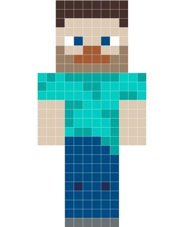Minecraft Steve perler bead pattern - Stickaz