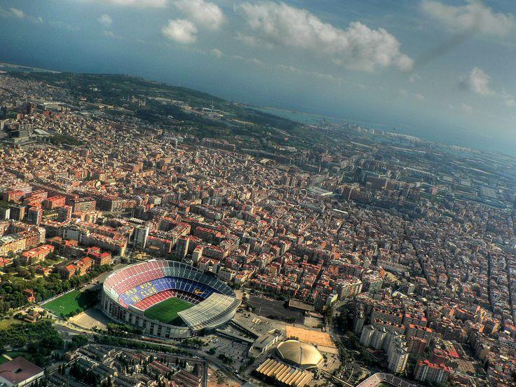 Afbeeldingsresultaat voor barcelona skyline  camp nou