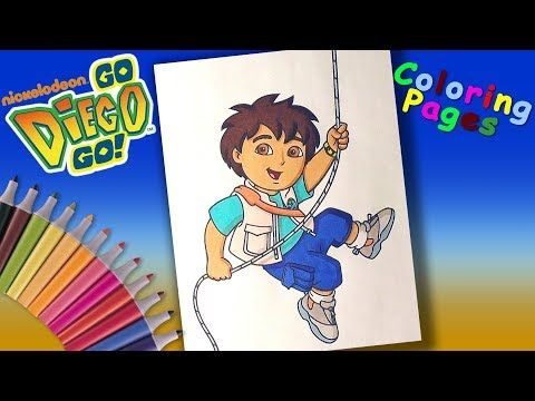Go, Diego! Go! Coloring Book for Kids How to Coloring Diego Coloring ...