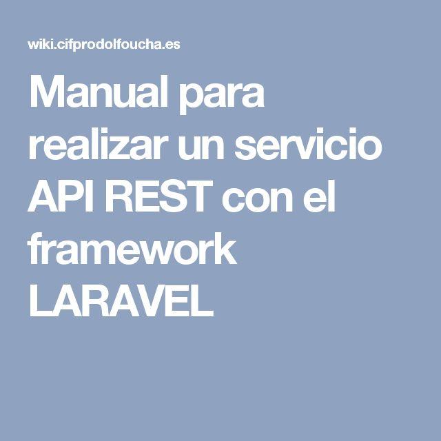 Manual para realizar un servicio API REST con el framework LARAVEL