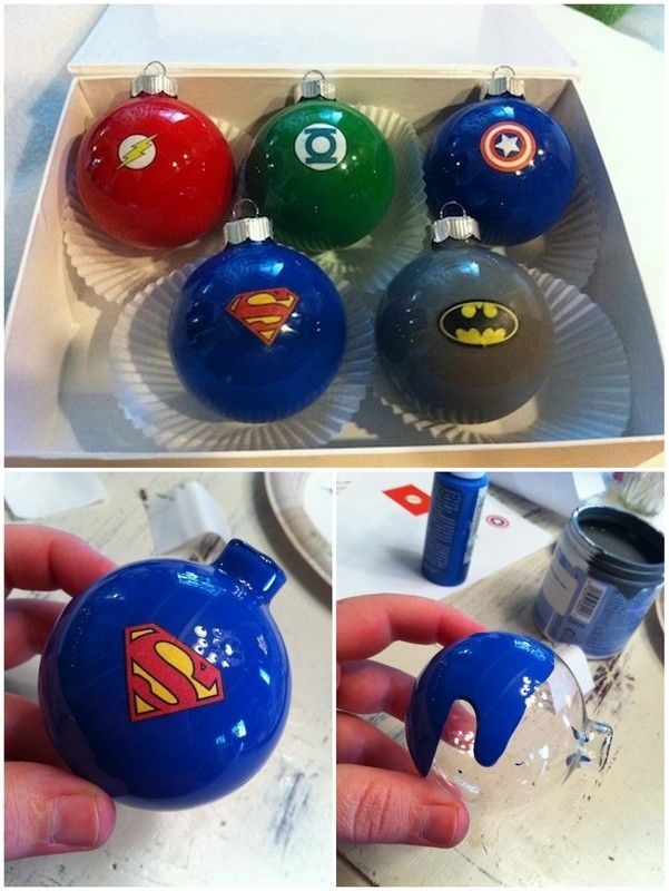Superhero Ornaments | 36 Adorable DIY Ornaments You Can Make With The Kids
