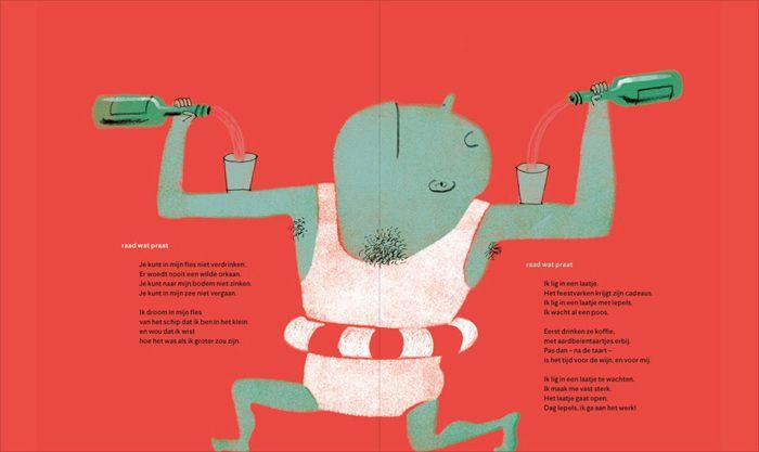 Spread from 'Raad Wat Praat: In een slootje ben ik een bootje' by Klaas…