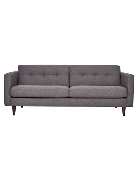 With its clean lines, narrow arms and tapered legs, the Loft three-seater sofa gives a subtle nod towards the simplicity of Scandinavian design.