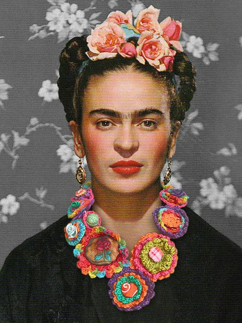 Frida Kahlo or Robert Pattinson. I did a quick look and then a double take because I thought it was him in drag.