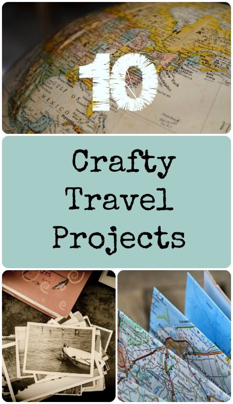 Use your maps, postcards, and souvenirs to create fun craft projects that will help you remember your travels!