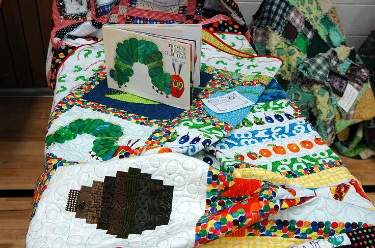 """my mum made a quilt out of the book """"A very hungry catepillar"""""""