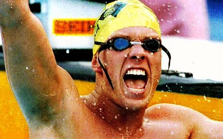 Australian Kieren Perkins won the 1500 metres swimming freestyle at the 1992 Olympics in world record time