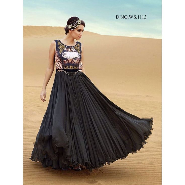 Glorious Tapeta Silk Black Color Khatli Work Anarkali Style Gown at just Rs.2176/- on www.vendorvilla.com. Cash on Delivery, Easy Returns, Lowest Price.