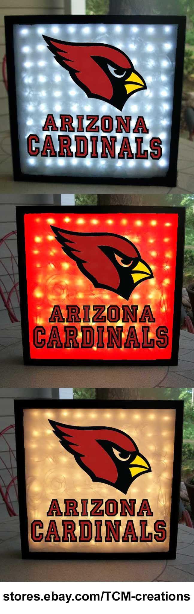 Arizona Cardinals shadow boxes with LED lighting.  NFL.